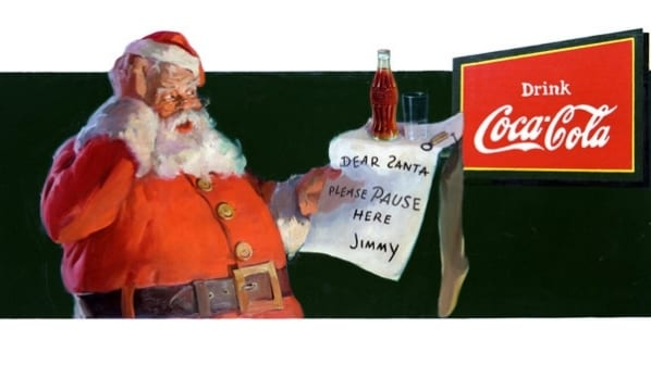 Sundblom Coca-Cola Mikulása 1932-ből