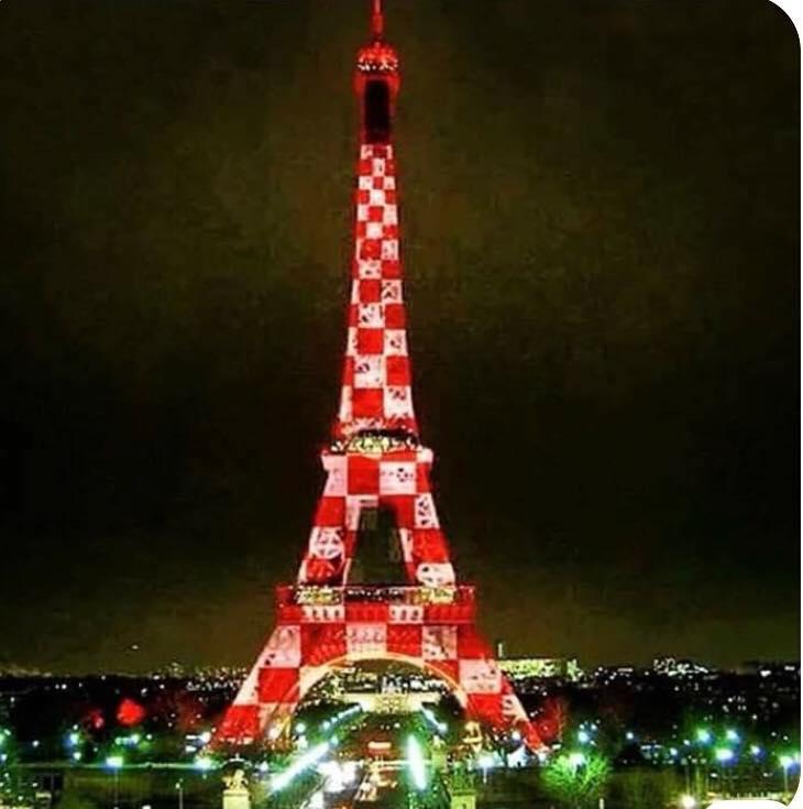 Eiffel-torony horvát színekben