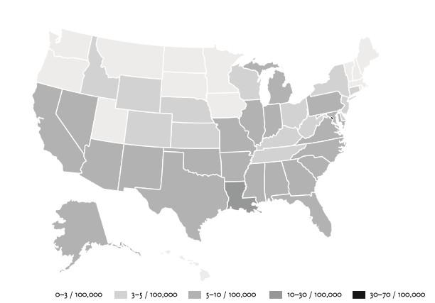 A gyilkosságok éves aránya az Egyesült Államokban - Steven Pinker