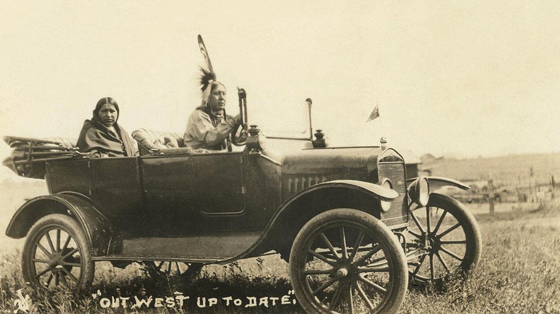 Megfojtott virágok - Oszázs indián autója