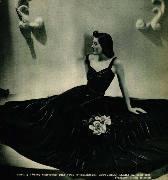Részlet a Színházi Élet 1938/40. számából - Rotschild Klára, a vörös divatdiktátor