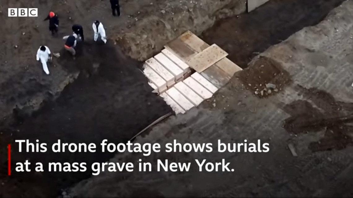 Hart-sziget covidos temető