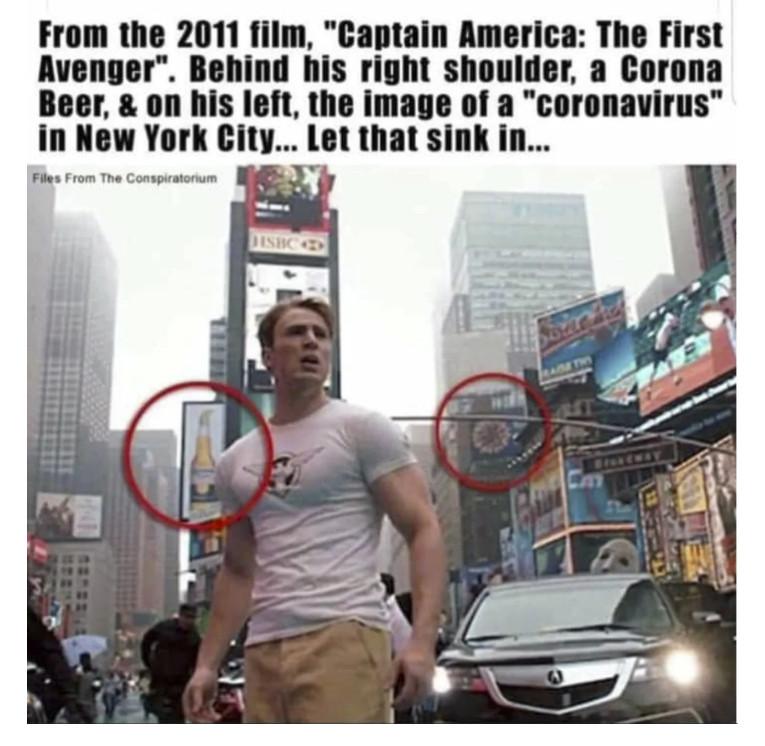 Amerika Kapitány kamu koronavírus