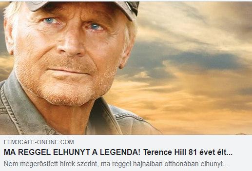 Terence Hill kamu halálhíre
