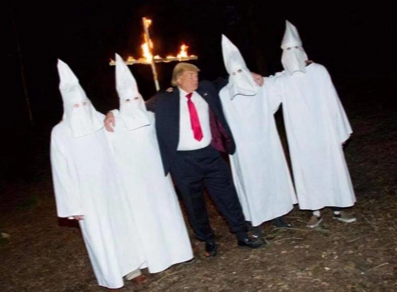 Donald Trump kamu KKK-s képe