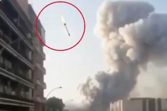 Bejrúti robbanás: kamu rakétás fotó