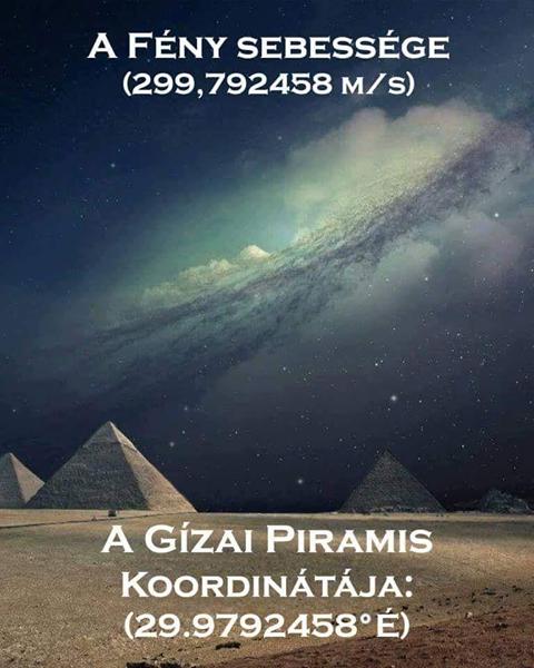 A gízai piramis és a fény sebessége