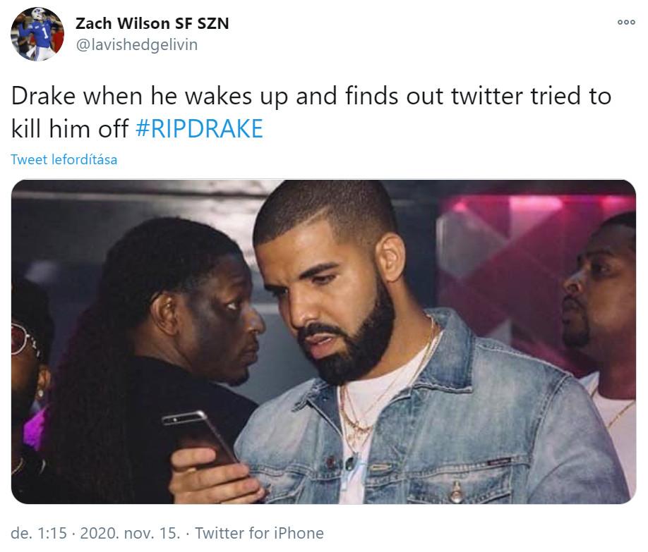 Drake kamu halálhíre