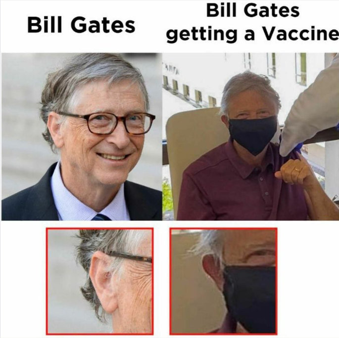 Bill Gates oltást kap - fizetett színészes konteó