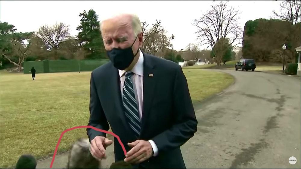 Joe Biden greenbox mikrofon