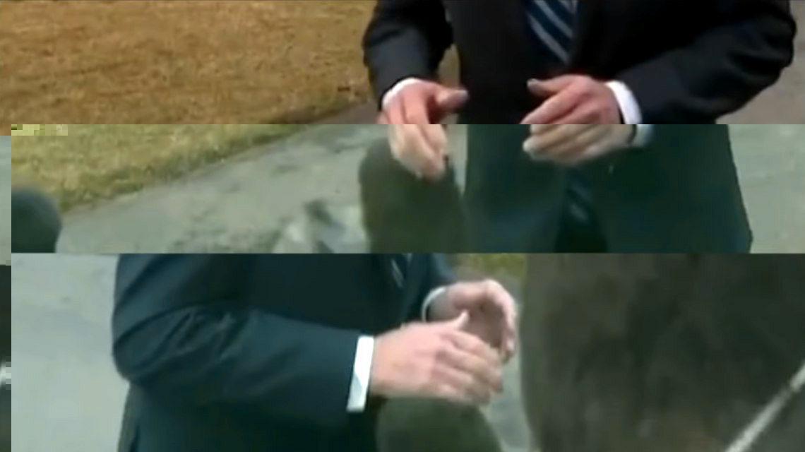 Joe Biden keze