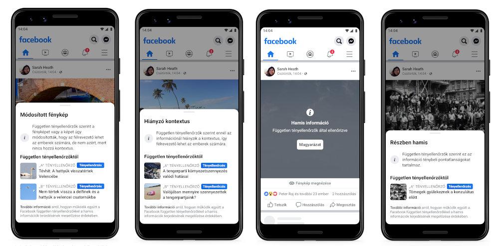 A tényellenőrzés megjelenési formái a Facebookon
