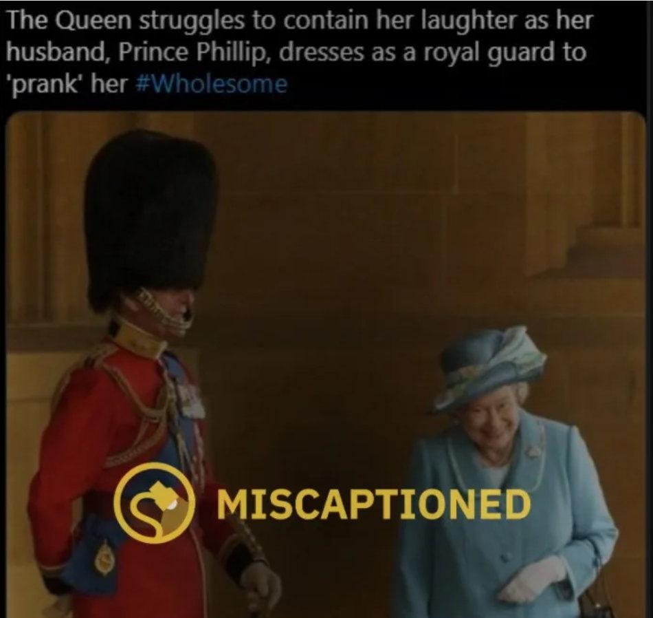 Fülöp herceg megvicceli Erzsébet királynőt - kamu