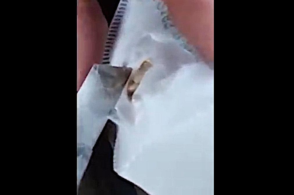 FFP2 maszk lárva videó