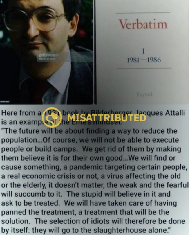 Jacques Attali 1981-as kamu idézete az eutanáziáról