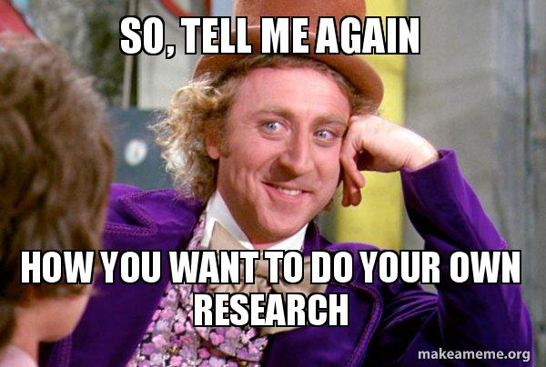 Do Your Own Research mém