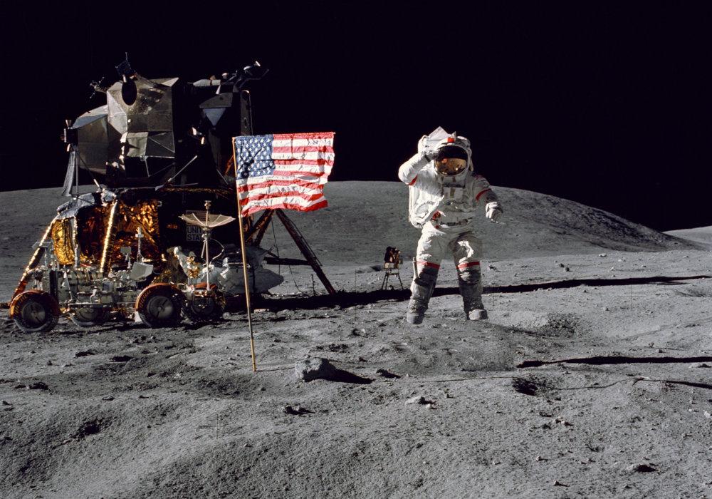Holdra szállás Apollo 16 1972-ben