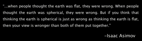 Isaac Asimov flat earth quote