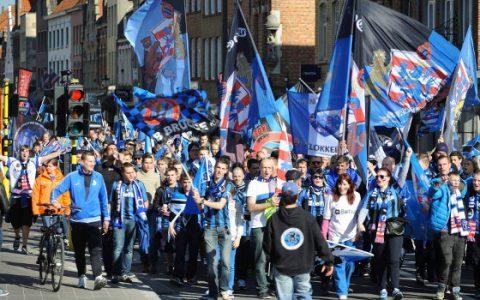 Club Brugge szurkolók