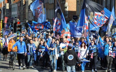 Club Brugge szurkolók White Ytripes Seven Nation Army