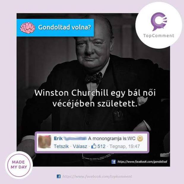 Churchill tényleg egy női vécében született?