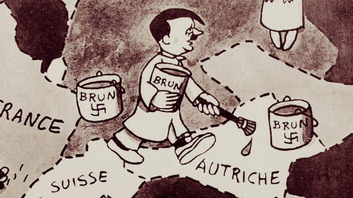 Hitler szobafestőként Jean Effel karikatúrján