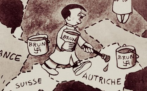 Hitler mint szobafestő - Jean Effel karikatúrja