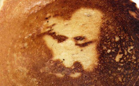 Jézus arca a pirítóson