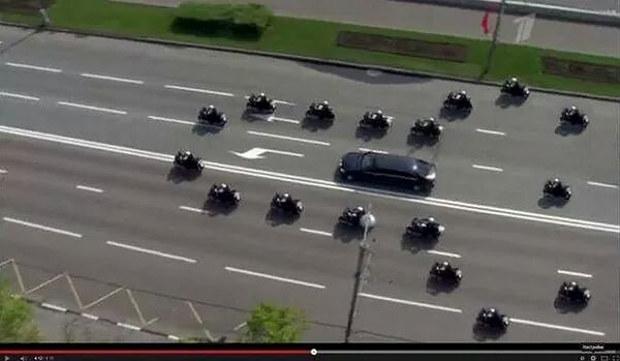 Photoshoppal készült kép a Putyin konvojról