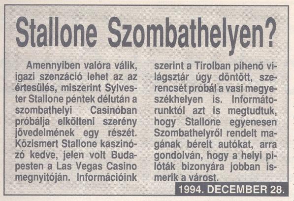 Stallone Szombathelyen