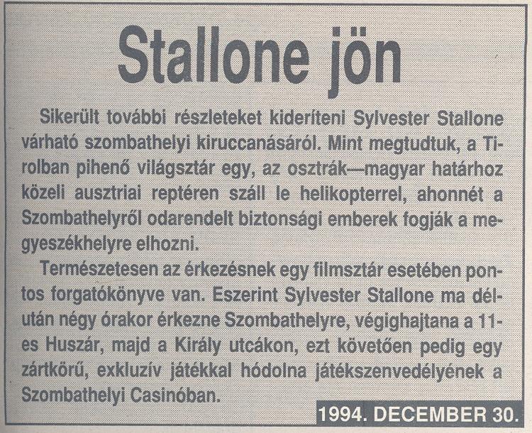 Stallone jön