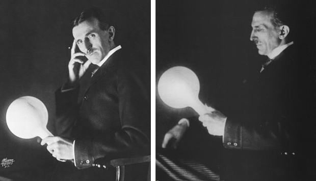 Nikola Tesla lámpaizzóval