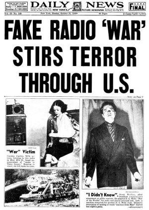 Welles rádiójátékának hatása